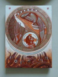 by Lyuba Yatskiv, ( Ukraine)~~~ Religious Images, Religious Icons, Religious Art, Byzantine Icons, Byzantine Art, Christian Artwork, Artsy Photos, Jesus Art, Ukrainian Art