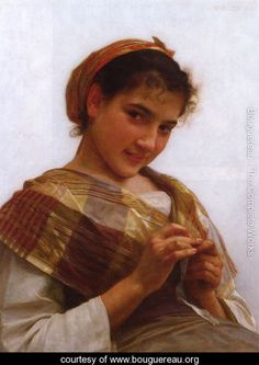 Jeune fille au crochet (Young girl crocheting) - William-Adolphe Bouguereau - www.bouguereau.org