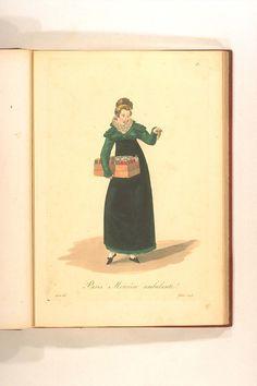 Mercière Ambulante Mercier, Vintage Outfits, Vintage Clothing, Illustrations, Empire, Baseball Cards, Movies, Movie Posters, Antique