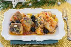 Baccalà in padella con olive e patate - ricetta facile