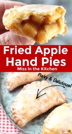 Fried Apple Hand Pies The absolute best fried apple pie that you've ever put in your mouth! The pastry crust is tender and flaky and just melts in your mouth. If you are looking for a classic dessert, these apple hand pies are just what you need! Apple Dessert Recipes, Apple Crisp Recipes, Just Desserts, Baking Recipes, Delicious Desserts, Yummy Food, Pastry Recipes, Recipe For Apple Pie, Mini Pie Recipes