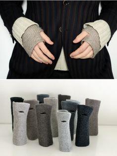 wristworms - simple cute crochet wrist warmers.