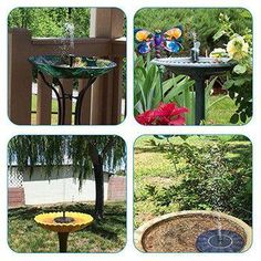 Solar Powered Birdbath Solar Powered Water Fountain feature Tags