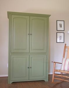 Green armoire