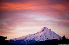 Mt. Hood Sunrise viewed from Indian Creek Golf Course