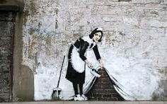 Banksy is an England-based graffiti artist. His satirical street art and subversive epigrams combine irreverent dark humor with graffiti done in a distinctive Banksy Graffiti, Banksy Canvas, Graffiti Artwork, Bansky, Graffiti Drawing, Graffiti Wall, Graffiti Piece, Stencil Graffiti, Graffiti Creator