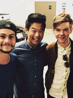 Dylan O'Brien, Ki Hong Lee, Thomas Sangster | The cast of The Maze Runner | Comic Con 2015