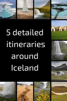 Iceland trip itineraries - 5 suggested itineraries depending on how much time you have: