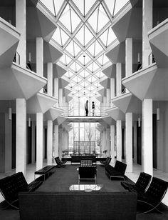 """McGregor Hall by Minoru Yamasaki"" Wayne State University, Detroit, Michigan 1958"