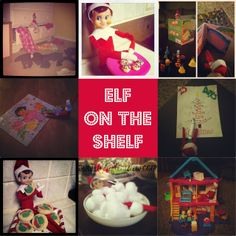 Elf on the Shelf ideas.  Easy and fast shenanigans for your little mischievous elf!