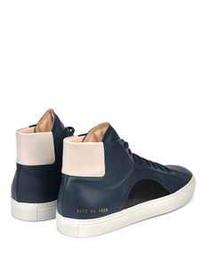 Tim Coppens X Common Projects leather high-top trainers