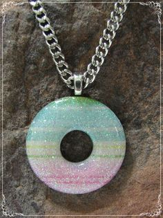 Medium Washer Pendant Necklace with MultiColor by EdwardsJewelry, $23.00