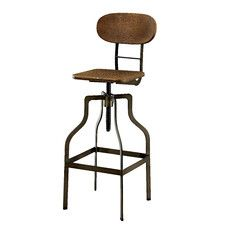 Jonathan Adjustable Swivel Barstool