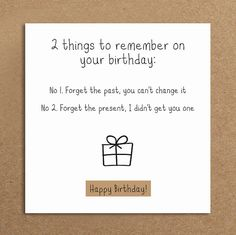 Handmade Funny Birthday Card Forget the by LeannejeanGraphics