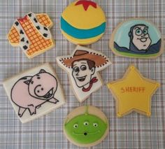 Biscoitos decorados Toy Stoty by Vanilla Art Cookies