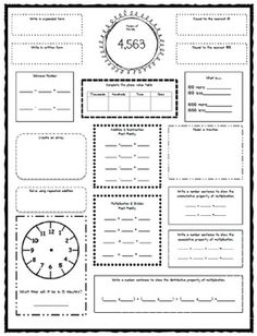 enVision Math 5th Grade 2009 version Vocabulary CLOZE