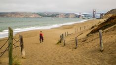 Baker Beach with views of the Golden Gate Bridge in San Francisco