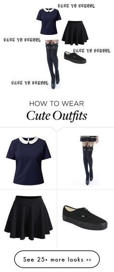 """My back to school outfit"" by thekawaiigirl on Polyvore"