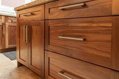 Walnut shaker drawer fronts
