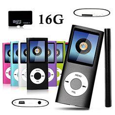 Btopllc 16GB beweglichen Spieler MP4 MP3-Musik-Player mit Mikro-SD-Karte gebaut 1,81 ' Real Color-LCD-Bildschirm Video Audio Voice Recorder, Medien, Bildansicht , Spiele, USB-Kabel und Kopfh?rer