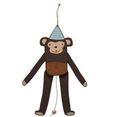 Toller Affen-Hampelmann des dänischen Labels OYOY. Mit Schnur zum Ziehen.