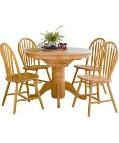 Kentucky Natural Fixed Top Dining Table and 4 Chairs.  200