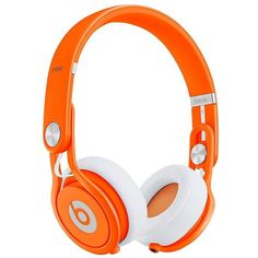 Beats by Dre Mixr Headphones - Neon Orange (€240) ❤ liked on Polyvore featuring headphones, accessories, beats, electronics and tech
