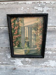 Antique Art Deco Print Girl