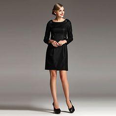 cintura alta manga larga de cintura alta vestido básico - EUR € 35.47
