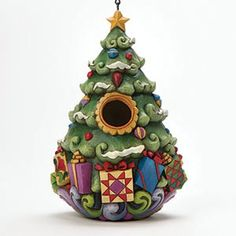 Jim Shore Christmas Tree Birdhouse