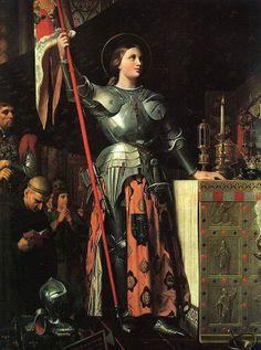 Jeanne d'Arc au sacre du roi Charles VII AutorDominique Ingres, 1854 TécnicaÓleo sobre lienzo EstiloRomanticismo Tamaño240 cm × 178 cm LocalizaciónMuseo del Louvre, París, Francia