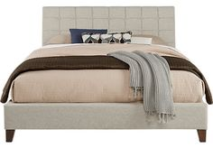 Abrielle Oatmeal 3 Pc Queen Upholstered Bed. $299.99. 90L x 66W x 44H. Find affordable Beds for your home that will complement the rest of your furniture.