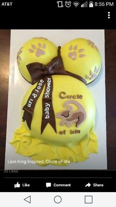 Kids Lion king baby shower cake