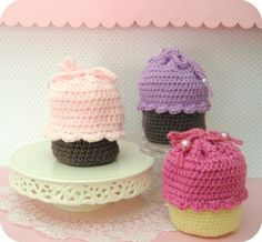 PDF  Cupcake Purse Crochet Pattern by AmyGaines on Etsy, $4.00