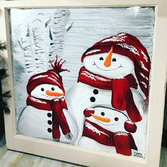 Christmas art projects, christmas canvas, christmas crafts for gifts, Christmas Signs, Christmas Snowman, Winter Christmas, Christmas Decorations, Christmas Ornaments, Christmas Canvas, Christmas Paintings, Snowmen Pictures, Snowman Crafts