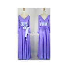 Purple A Line V Neck Chiffon Floor Length Sashes Ribbons Long Prom... ($109) ❤ liked on Polyvore featuring dresses, a line long dress, a-line dresses, purple dress, v neck prom dress and v neck a line dress