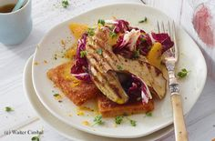 Lauwarmer Steinpilz-Orangen-Radicchio-Salat mit Polentaschnitten French Toast, Tacos, Mexican, Lunch, Herd, Meals, Dinner, Meal Ideas, Salads