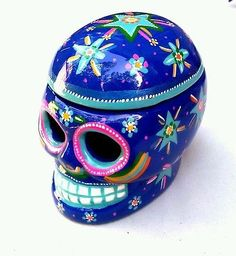 CERAMIC SKULL,NEW  by JHF (Handmade) for DAY OF THE DEAD.