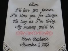 Embroidery 40 words of your choice. Sister by elegantmonogramming