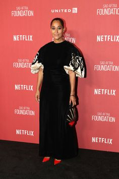 e442f24db1a Tracee Ellis Ross Evening Dress - Tracee Ellis Ross went for classic  glamour in a vintage
