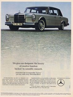 1966 Mercedes Benz Ad / #MB / Via: https://www.flickr.com/photos/94854784@N06/11884685853/in/faves-139808005@N05/