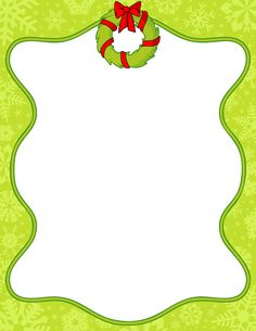Printable Christmas wreath border. Free GIF, JPG, PDF, and PNG downloads at http://pageborders.org/download/christmas-wreath-border/. EPS and AI versions are also available.