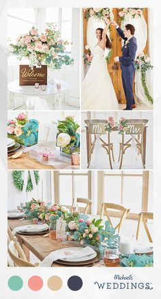 Delicate details & billowing blooms: who wouldn't fall in love with this romantic wedding style? Get more inspiration and wedding DIY tips from Michaels.