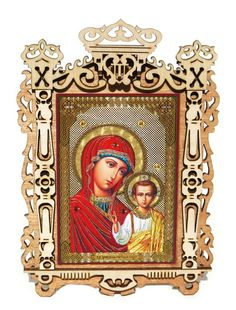 Mary and Jesus Medium Framed Orthodox Russian Icon Religious Icons, Religious Gifts, Religious Art, Unique Gifts For Kids, Russian Icons, Mary And Jesus, Russian Orthodox, Close Up Portraits, Madonna And Child