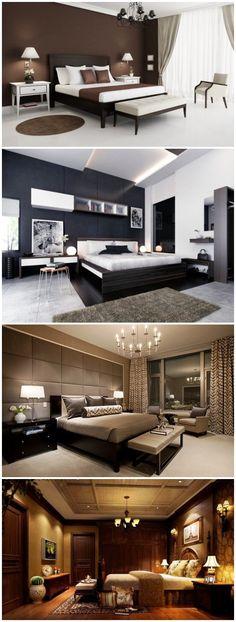 dark bedroom designs for dramatic atmosphere