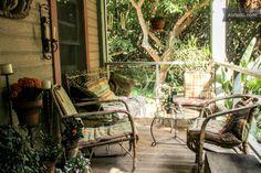 The Rustic Avocado Ranch in Carpinteria This porch looks so comfy!