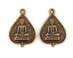 Buddha Earring Findings Buddha Pendant Antique by TheBeadDreamer