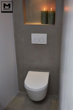 This is one impressive throne! The design in this bathroom is sleek and simple