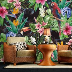 Cheap wallpaper mural, Buy Quality bird wallpaper directly from China 3 d wall paper Suppliers: Southeast Asia flower Bird Wallpaper Murals for Walls Bedroom Photo Print Wallpapers 3 d Wall Paper Papier Modern Wall Coverings