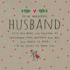 The 59 best christmas cards for him images on pinterest christmas wonderful husband m4hsunfo